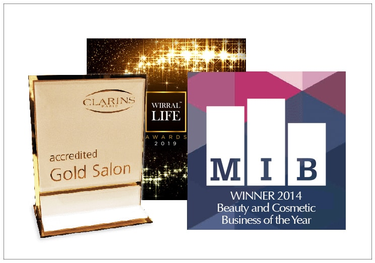 Wirral Life Magazine Award, Clarins Gold Salon Award and MIB Award