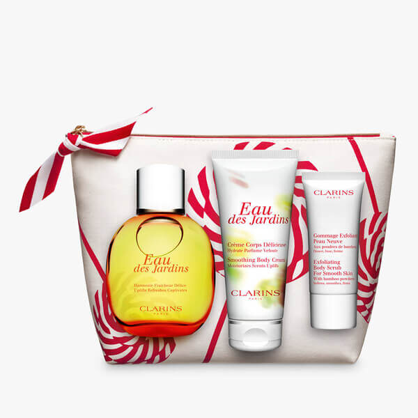 clarins collection in white bag